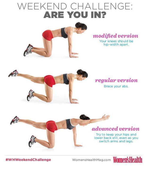 Image Result For Bird Dog Exercise Jenna Fitness Exercises Workout