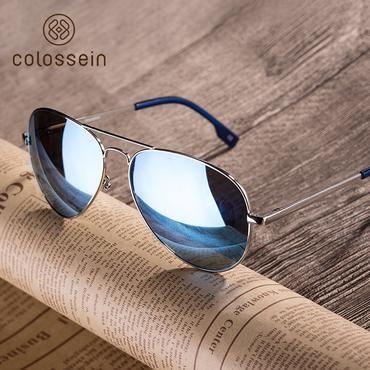 d8d6a7c0936 COLOSSSEIN Fashion Metal Sunglasses Men Retro Oval Frame Glasses Popular  Polarized Style New Trendy Hot Sale