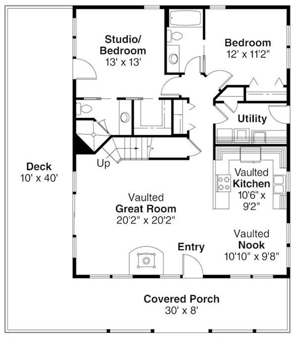 First floor plan for arden also cabin style house beds baths sq ft rh pinterest