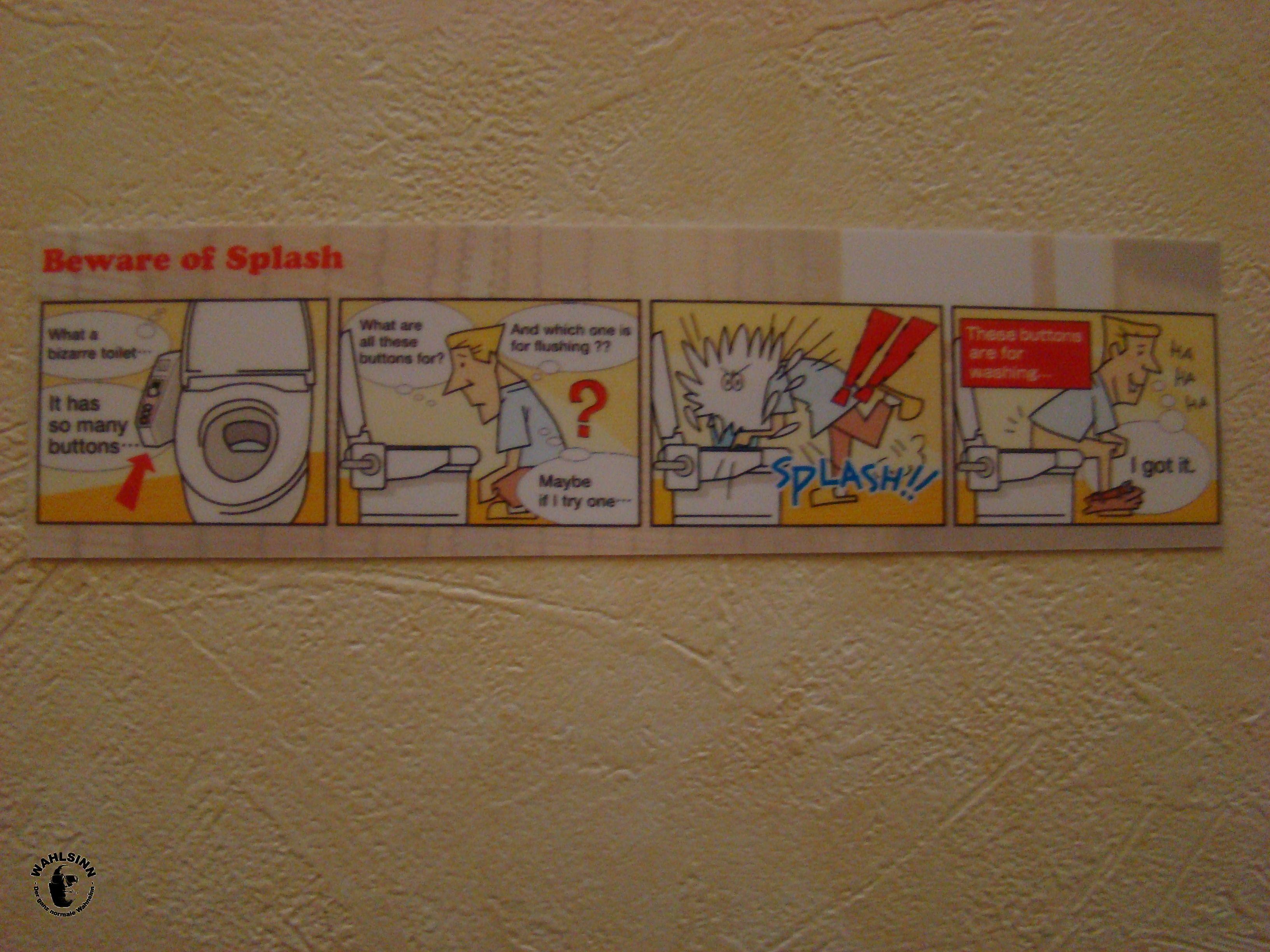 Japan - Bedienungsanleitung für Toilette