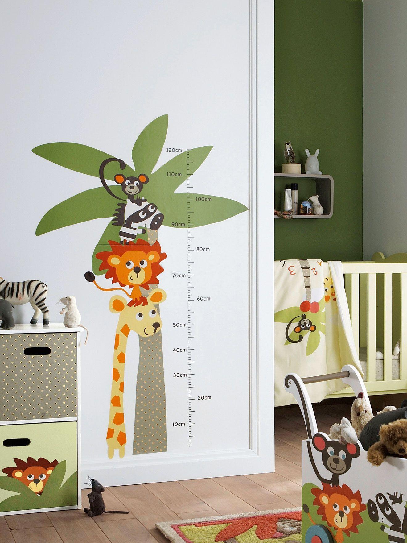 Pegatina medidor animales habitaci n beb ni o habitaci n - Ideas para decorar el cuarto del bebe ...