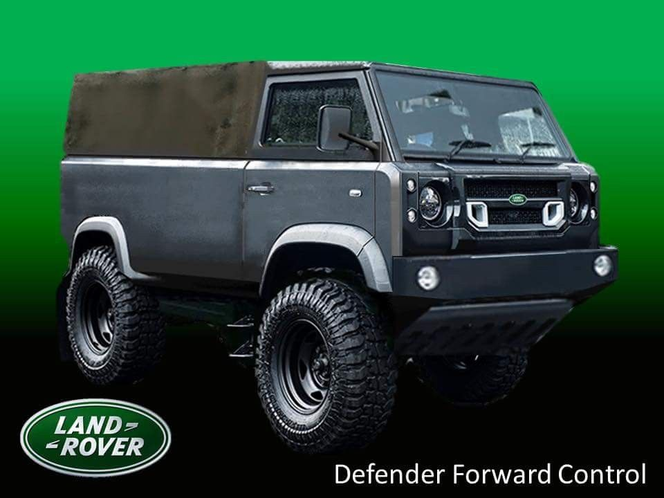 land rover defender forward control 2018 concept nouveau. Black Bedroom Furniture Sets. Home Design Ideas