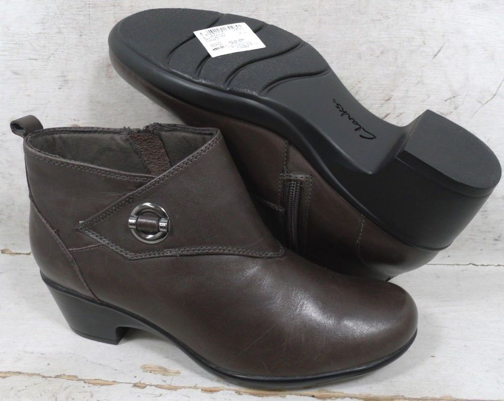d3ea83a20cd14 NEW Clarks Womens Malia Surf Gray Leather Ankle Boots Shoes 11364 size 7.5  M  fashion