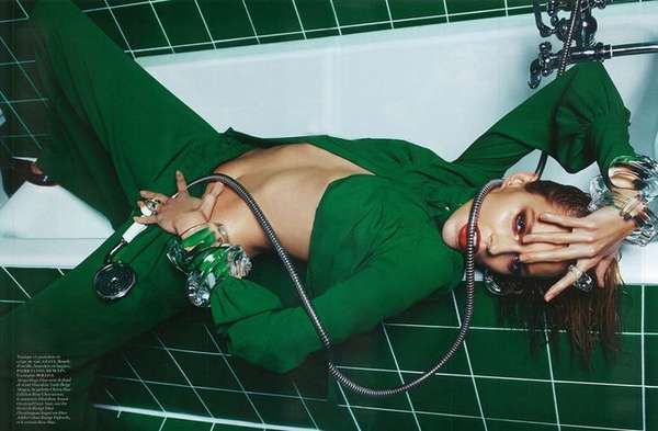 The Vogue Paris March 2013 Editorial Features Lavatory Fashion #fashion #photoshoot trendhunter.com