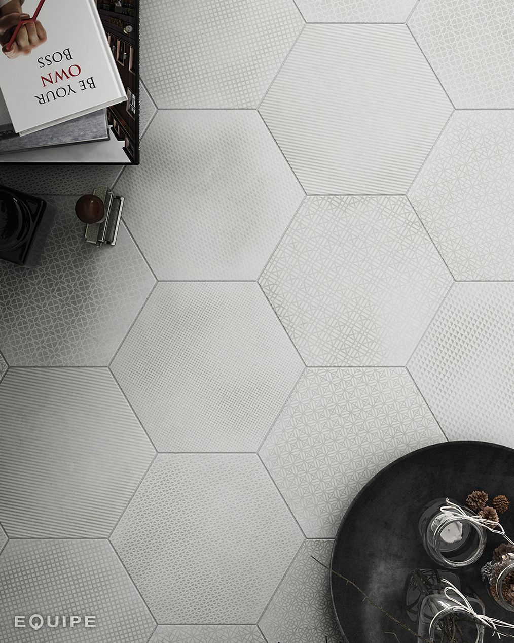 restaurant wall and floor tile in montreal