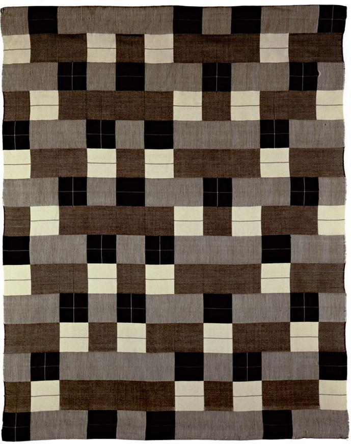 Anni Albers, Wandbehang (SchwarzWeiß), 1927/1964