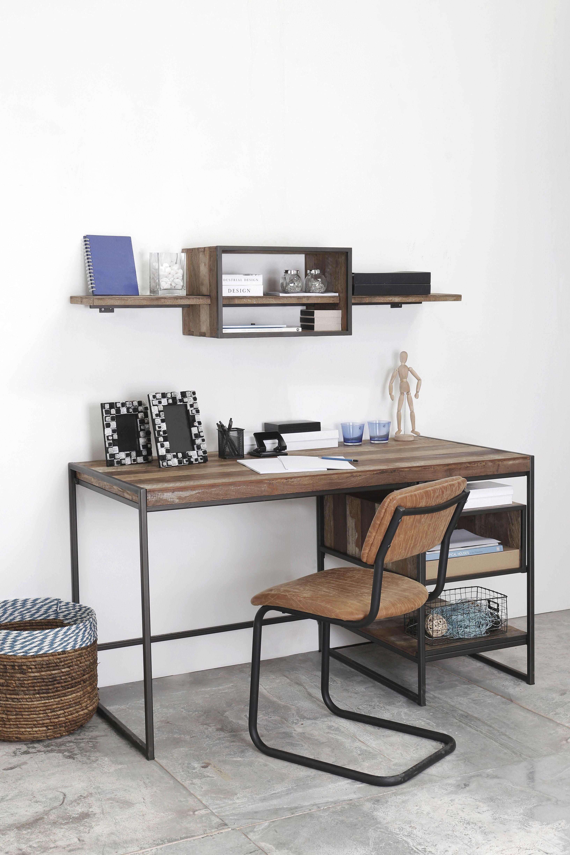 שולחן כתיבה מעץ ממוחזר פינתעבודה חדרעבודה שולחןכתיבה Home Decor Furniture Home