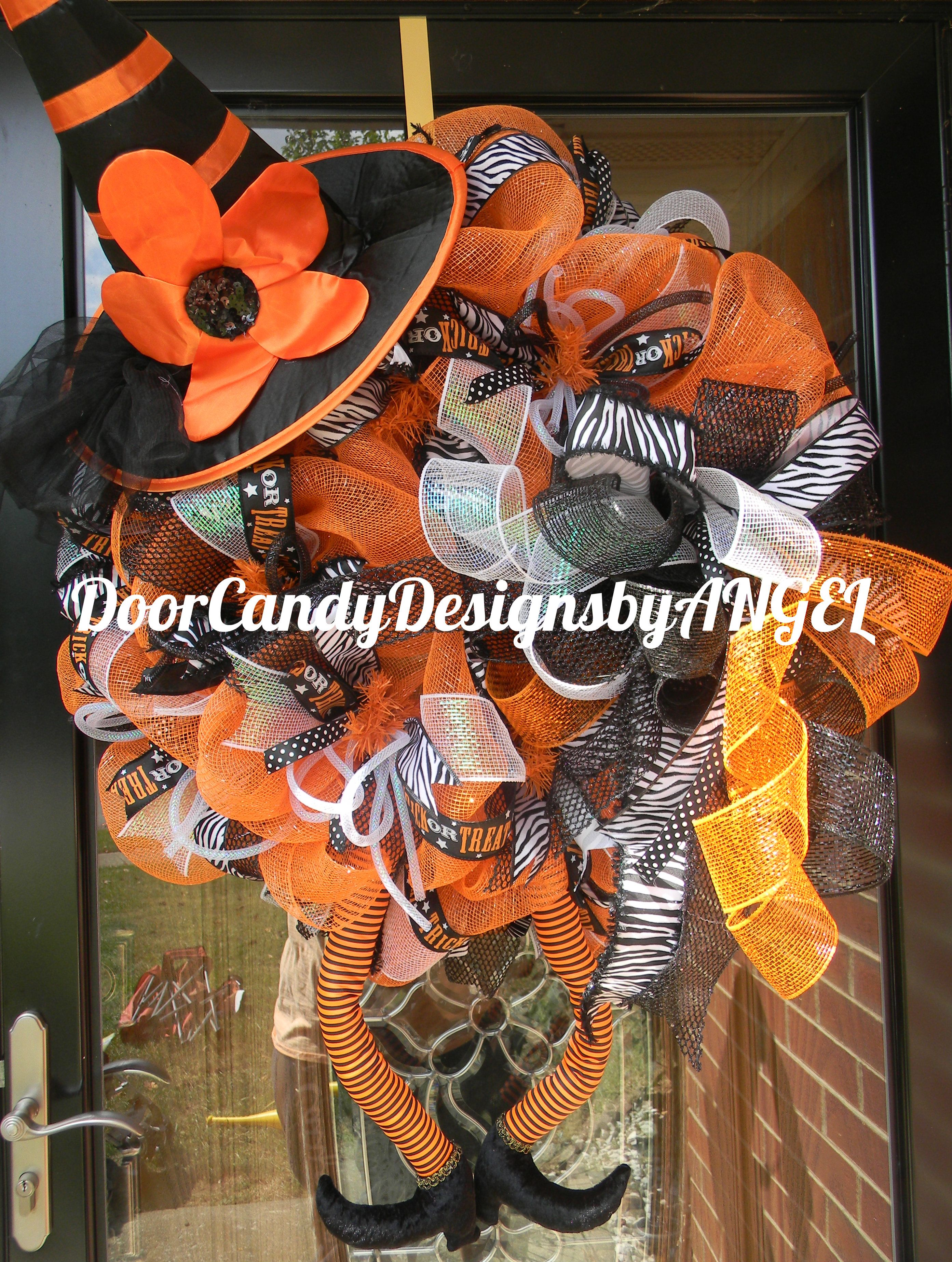 Trick or Treat Witch Design (With images) Door candy