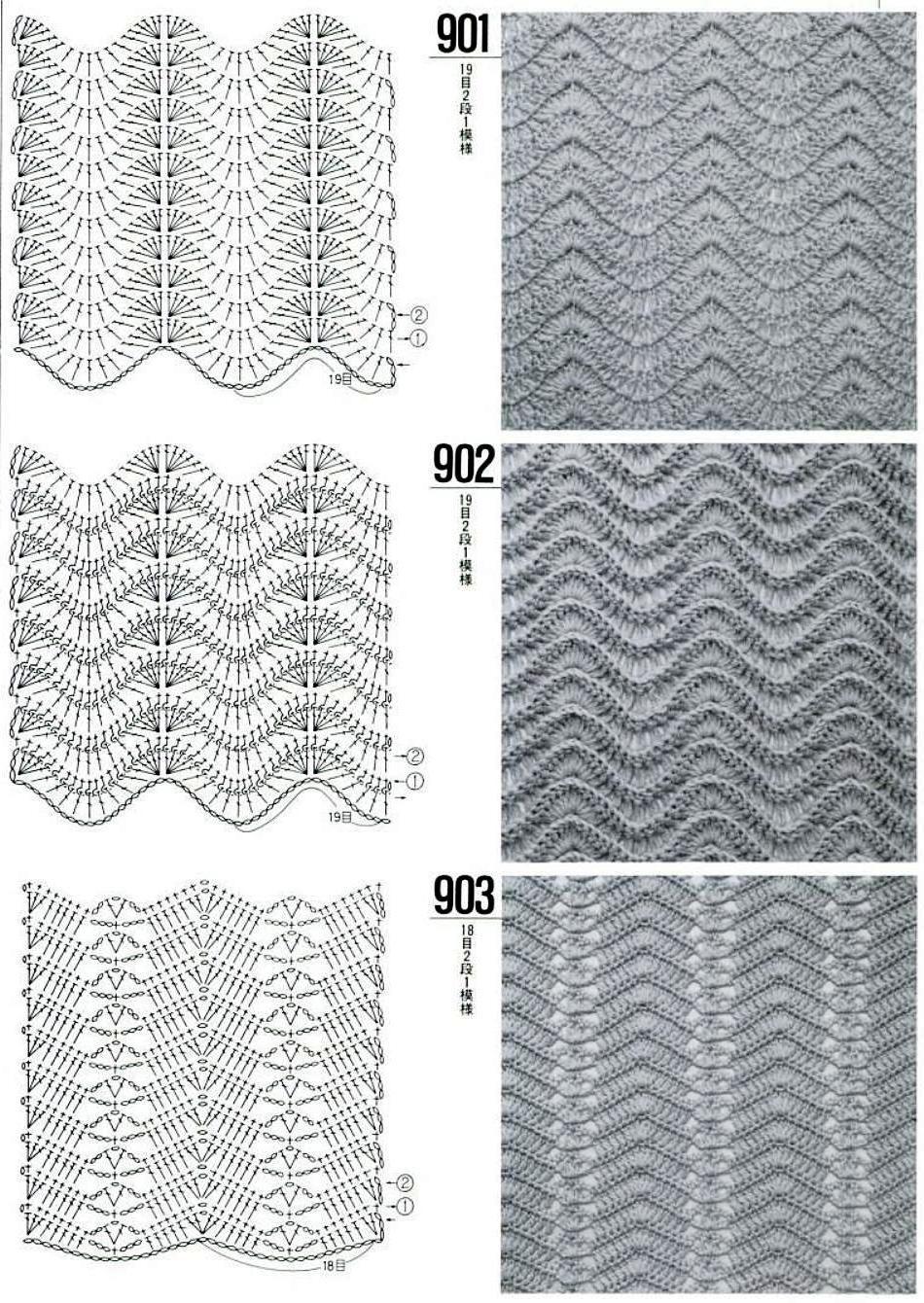 Ripple patterns | babies | Pinterest | Ganchillo, Tejido y Puntadas