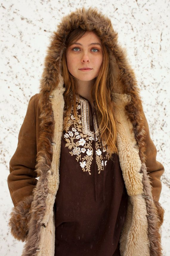 5ddd93ae5585 70's Penny Lane Suede Coat Hood Jacket Gypsy Festival by Derunder ...