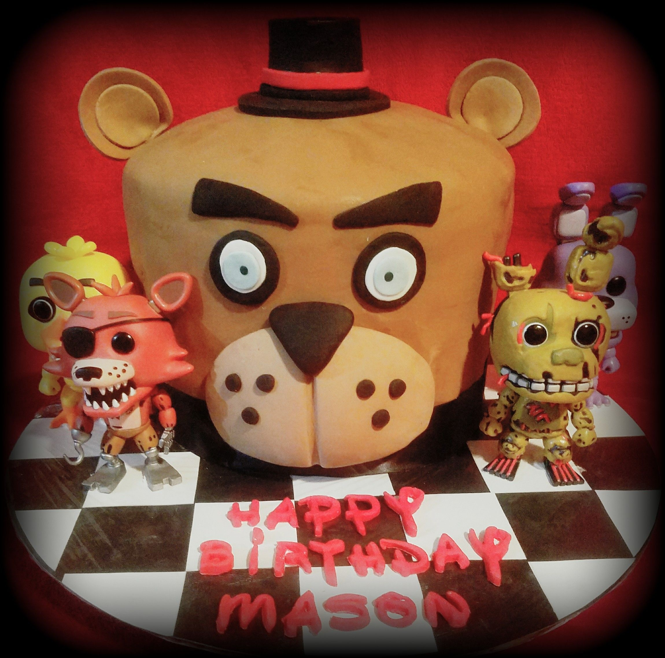 Five nights at Freddy's cake Christmas ornaments