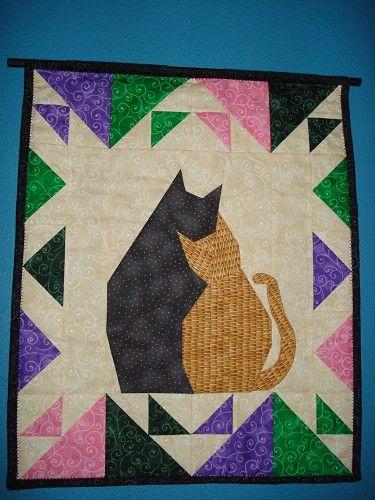 Picture Piecing New Foundation Paper Piecing Method - Cat Nap - 19 x 22 1//2 Quilt