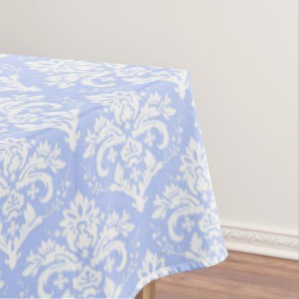 Table Cloth Wedgewood Blue Damask Zazzle Com Table Cloth