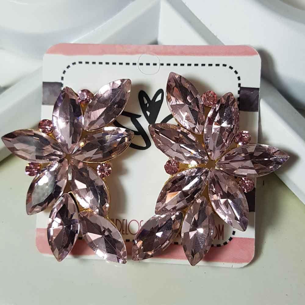 5c6bdc92b948 Pendientes de fiesta rosa claro