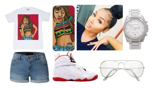 """""""Untitled #173"""" by kya-booda ❤ liked on Polyvore featuring LE3NO and Michael Kors"""