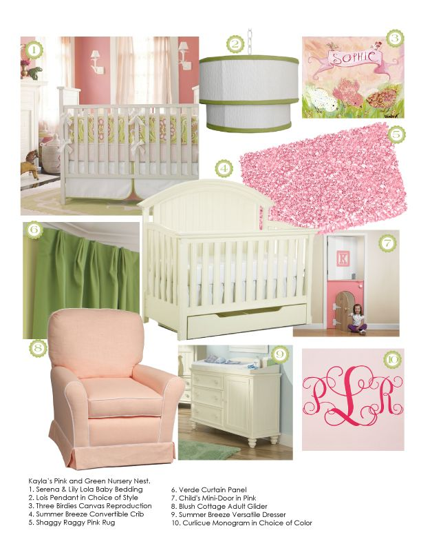 Delight in a pink and green nursery!   Color Trend: Pink ...