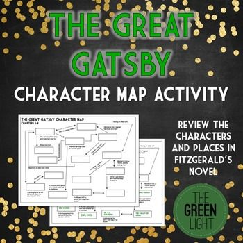 The Great Gatsby Character Map Worksheet | Literature | Pinterest
