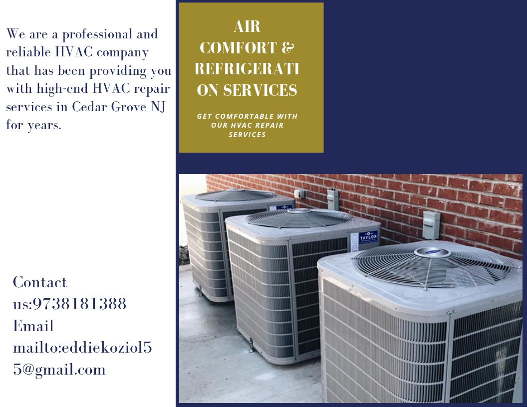 Residential Ac Repair Services Cedar Grove NJ Air