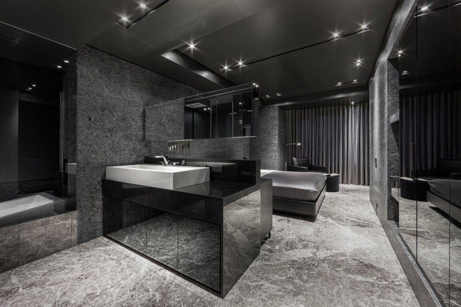 project black serenity 7 daring monochromatic interior scheme - Black Bedroom Design