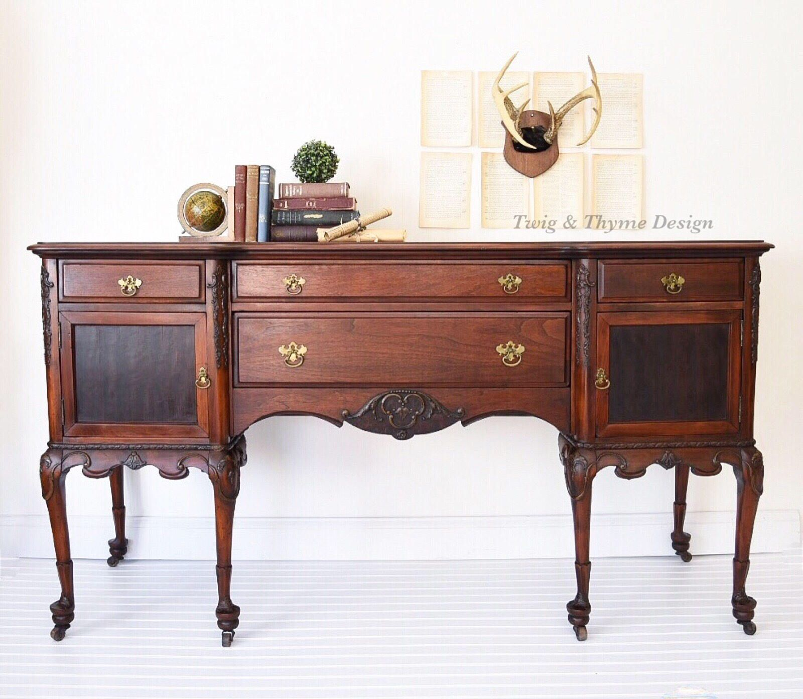 Excited To Share The Latest Addition My Etsy Early 1900 S Antique Queen Anne Walnut Buffet Sideboard