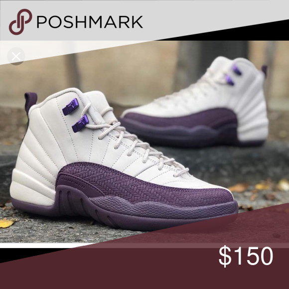 big sale a9950 debda White and purple retro Jordans 12 or 23 They are nice shoes ...