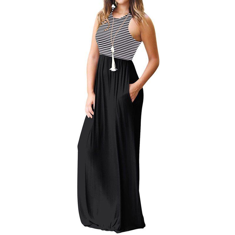c87650b4be9e Noroomaknet Long Maxi Dresses for Women Summer Casual Loose Dresses Women's  Sun Dresses Party Dresses O
