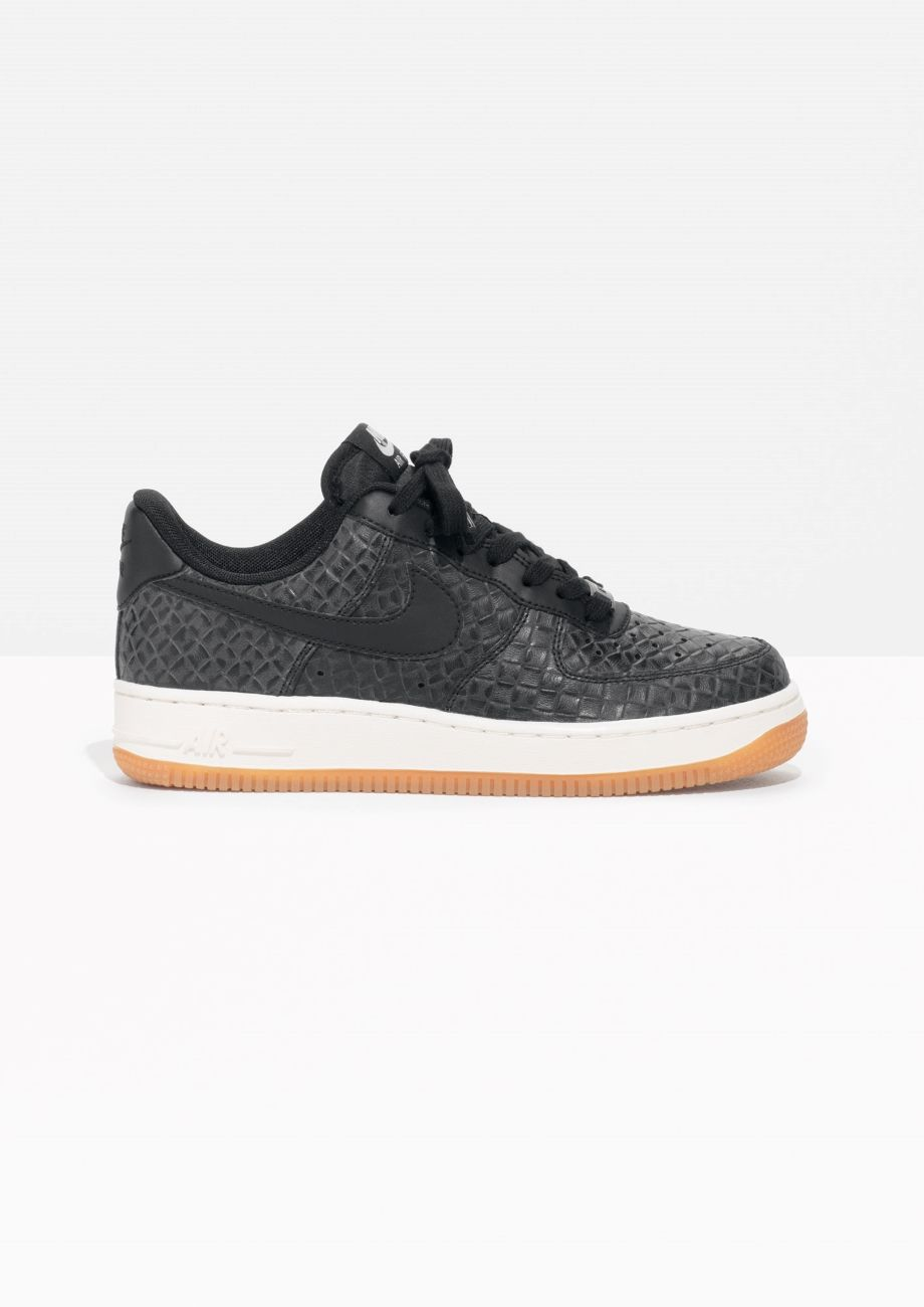 buy online db602 538f3 Other Stories image 1 of Nike Air Force 1 Snake Embossed in Black