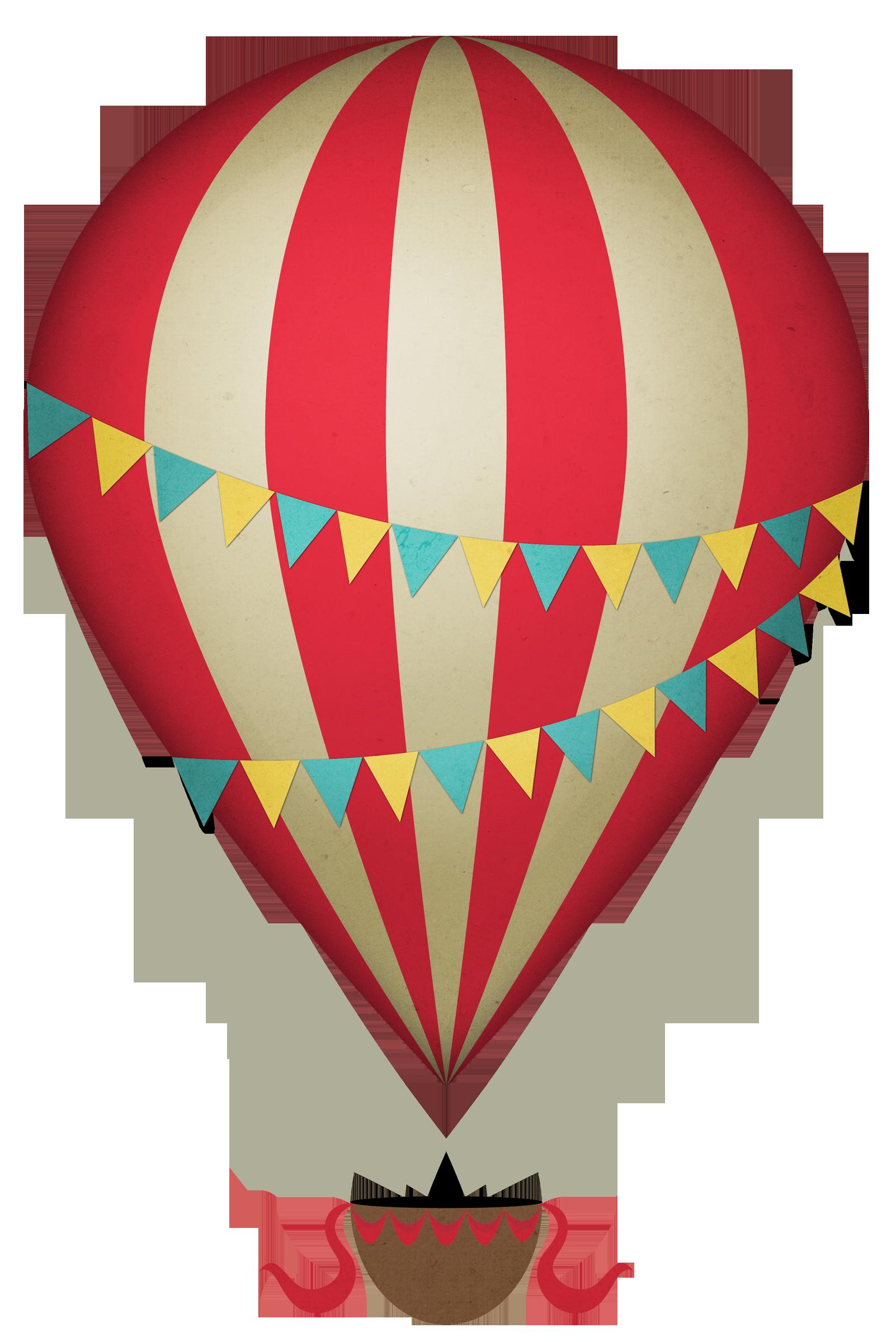 Vintage Hot Air Balloon% In Red Hot Air Balloon Clipart Collection   Clipartfox