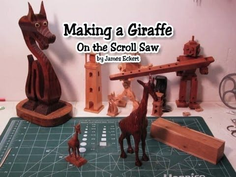 Making a 3d giraffe on the scroll saw scroll saw pinterest making a 3d giraffe on the scroll saw fandeluxe Images