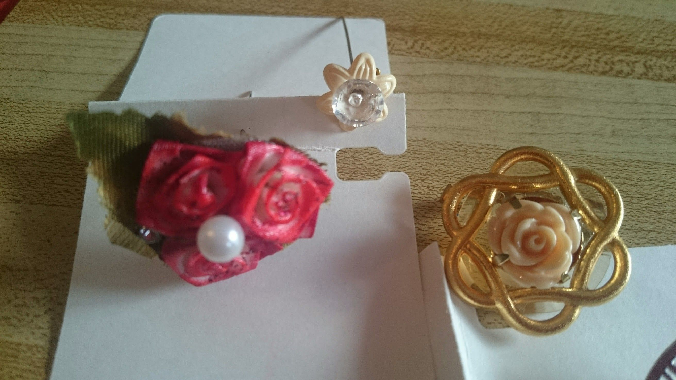 Handmade Floral Hijab pins and a brooch Sale designed and created by Sameya.