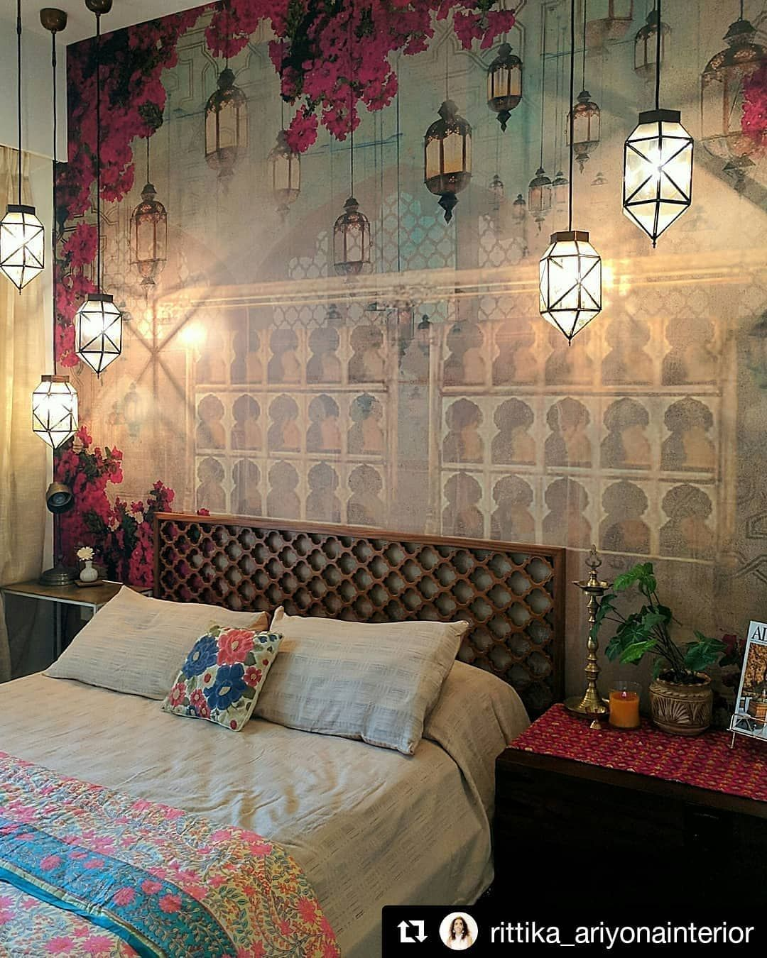 The 3rd Most Liked Post Of The Year On Our Last Few Hours Of Vacation Makes My Heart Want To Join In Aboh Indian Bedroom Decor Bedroom Vintage Stylish Bedroom