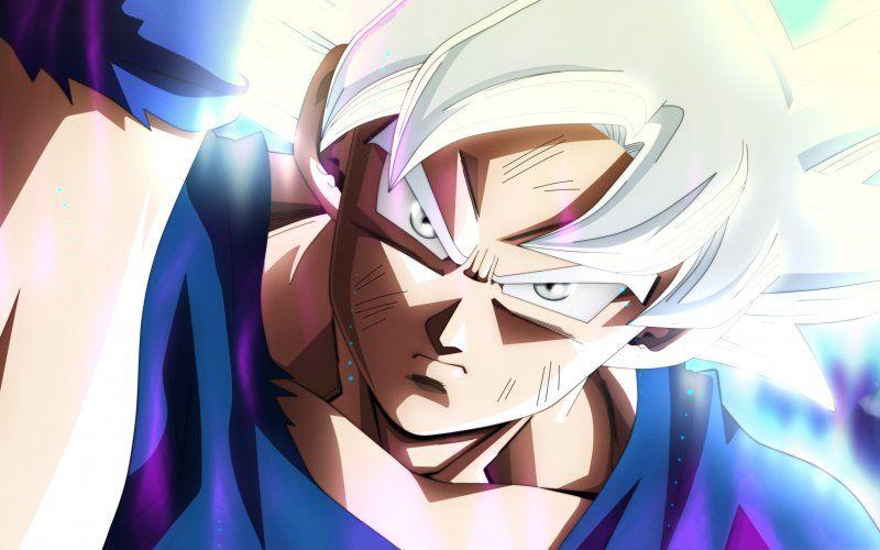 Angry Goku Face Anime Boy