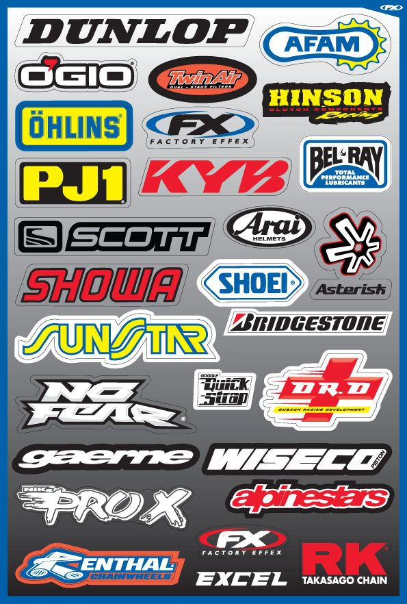 300 Free Auto And Moto Vector Stickers Motorcycle Stickers