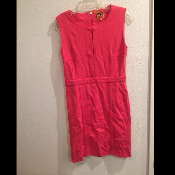 Hot pink Tory Burch pencil dress size small Tory Burch Hot pink dress. Stretchy T-shirt knit material. Size small. Excellent condition. Measures 35 inches long. Tory Burch Dresses Mini