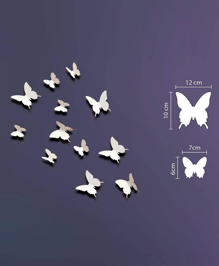 Walplus ★ 3D Wandsticker Schmetterlinge weiß