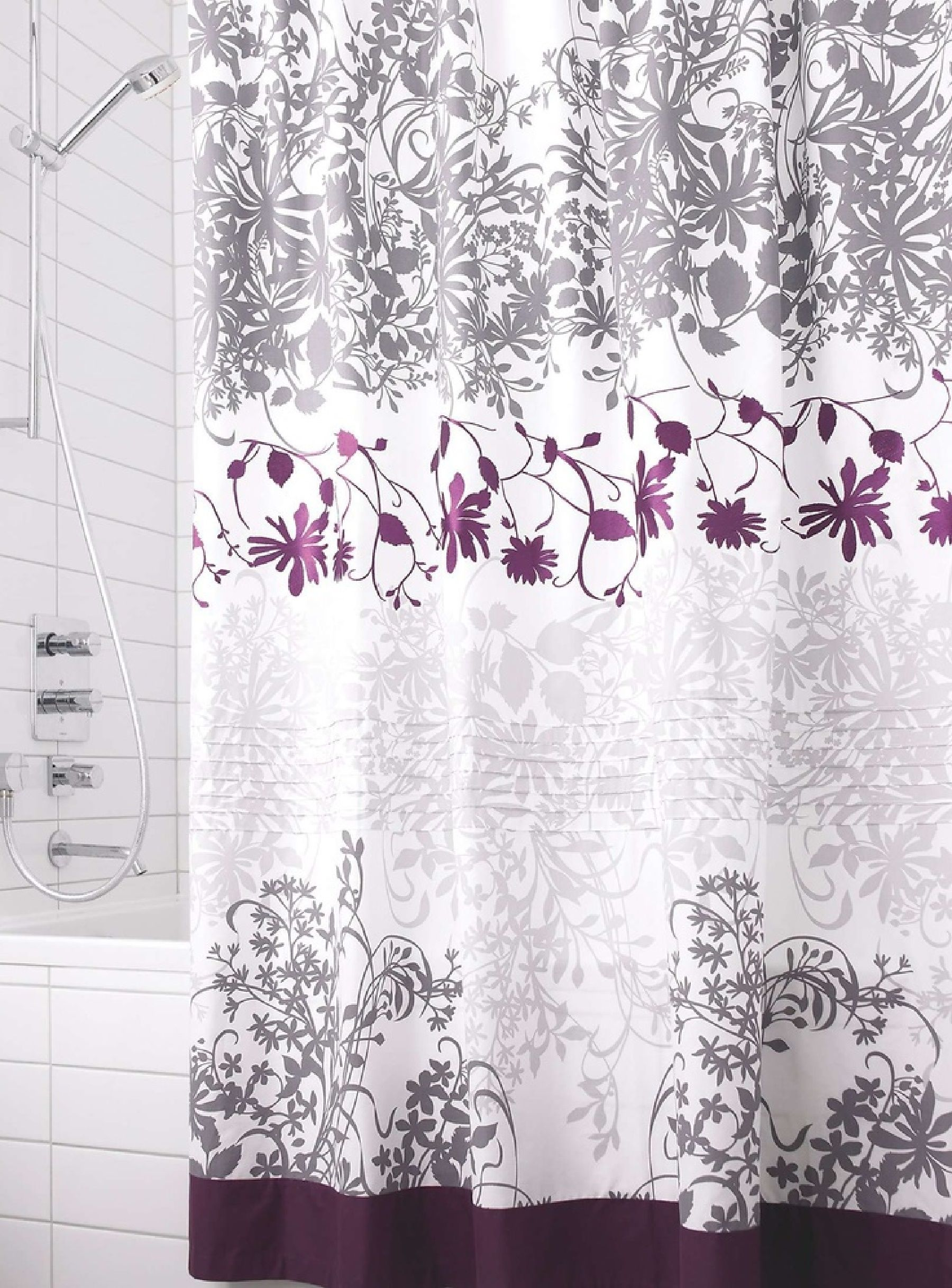 Mauve And Gray Shower Curtain Gray Shower Curtains Shower