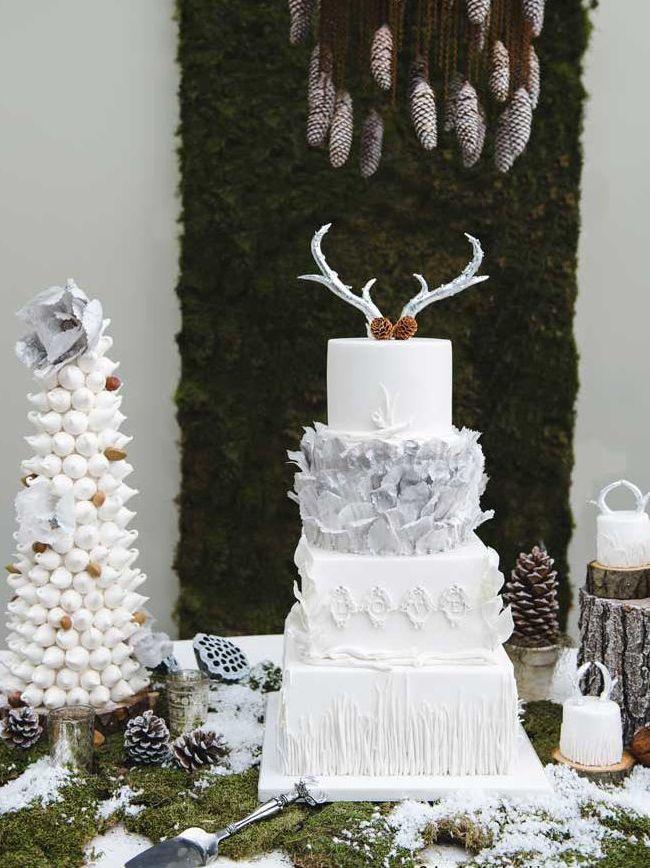 22 Winter wedding cake ideas