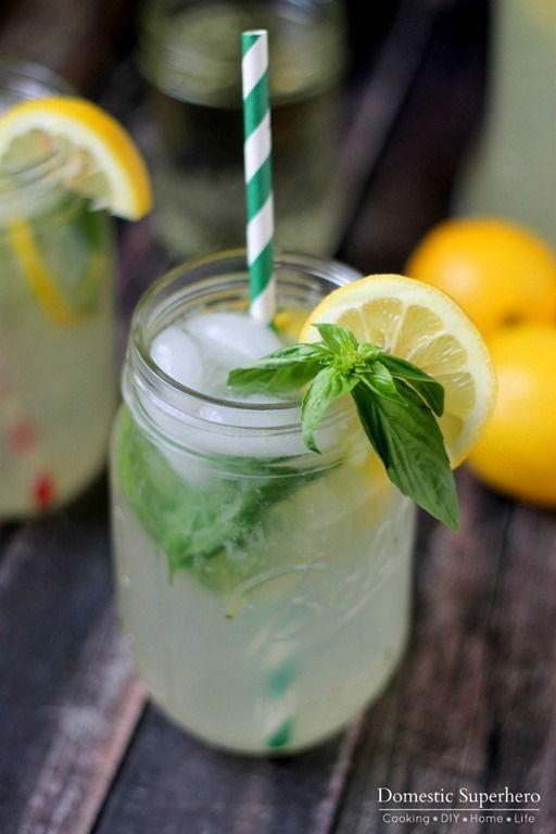 The BEST Homemade Basil Lemonade #basillemonade