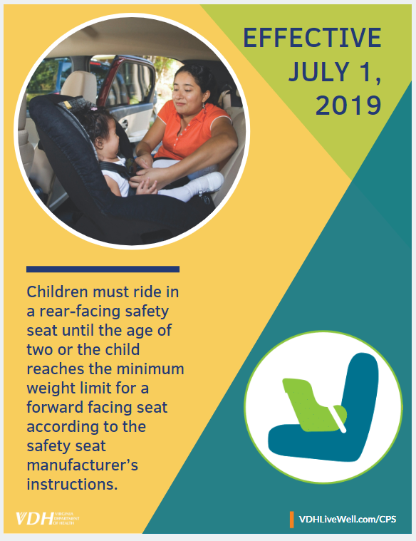 Children must ride in a rearfacing safety seat until the