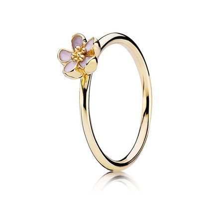 Cherry Blossom Stackable Ring Pink 14k Gold Pandora Jewelry Pandora Jewelry Cherry Blossom Ring Jewelry