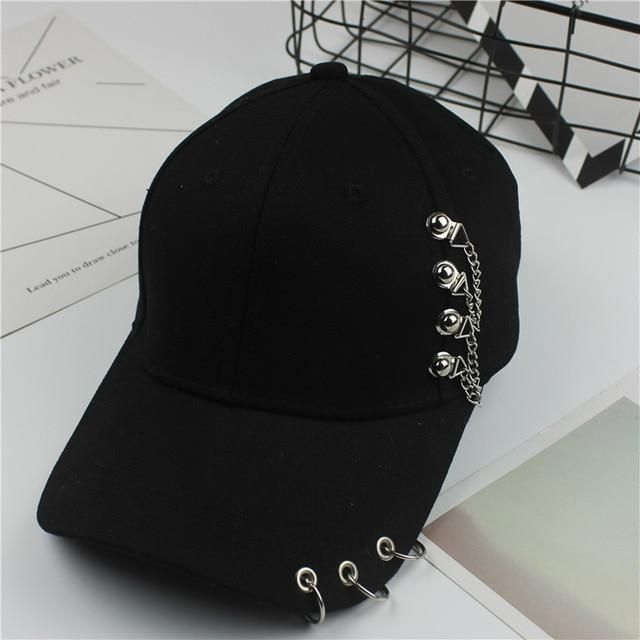 2018 Baseball Cap BTS Casual Solid Adjustable Iron Ring Baseball Caps  Snapback Cap Casquette Hats Fitted 548fb5fcc8b0