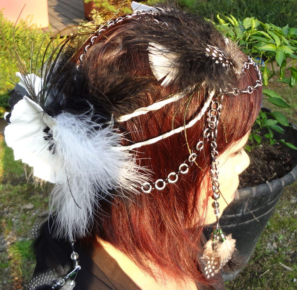 Silver Priestess Headdress by Kira Carina Bird www.etsy.com/shop/stellamari