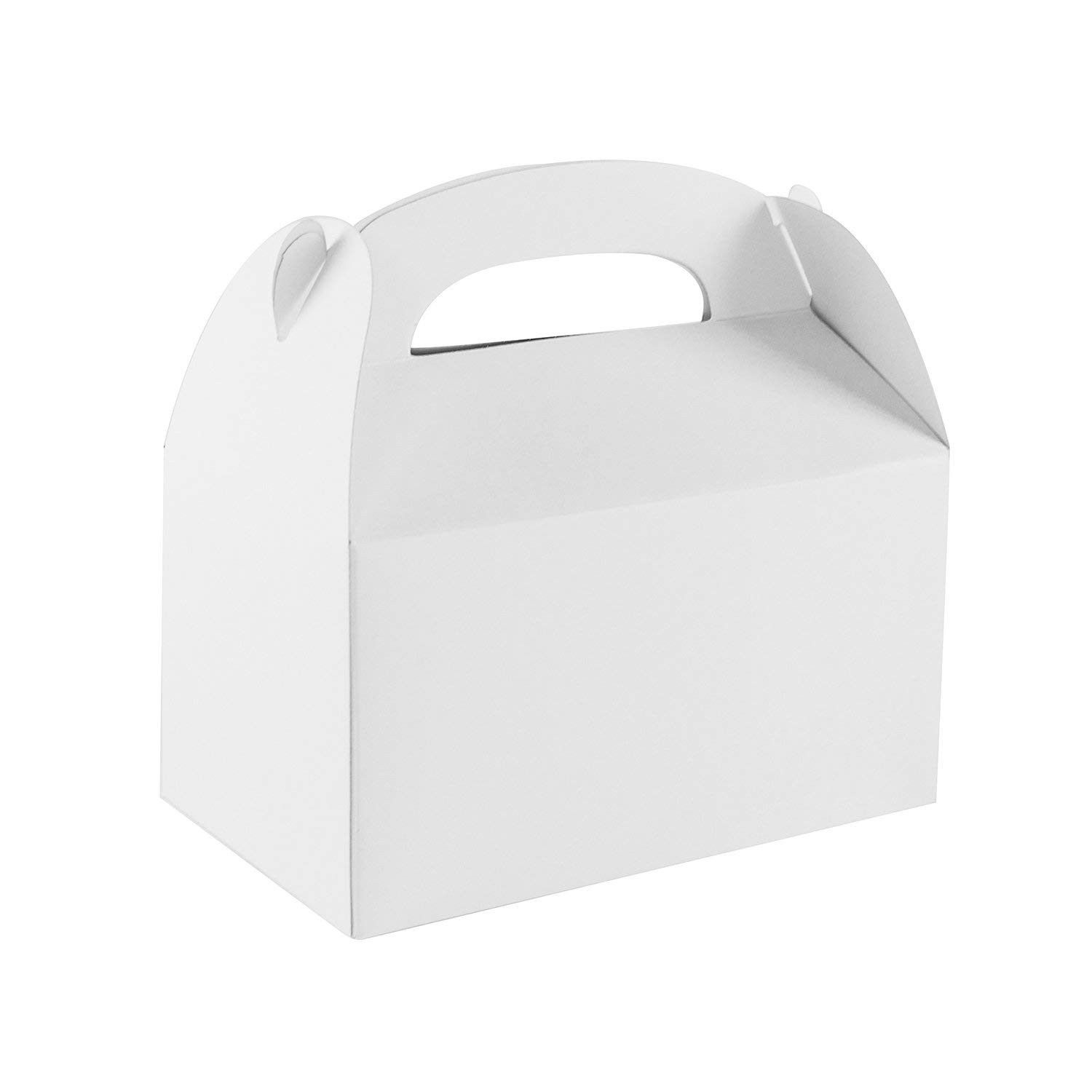 Blank white color treat gift paper cardboard boxes with