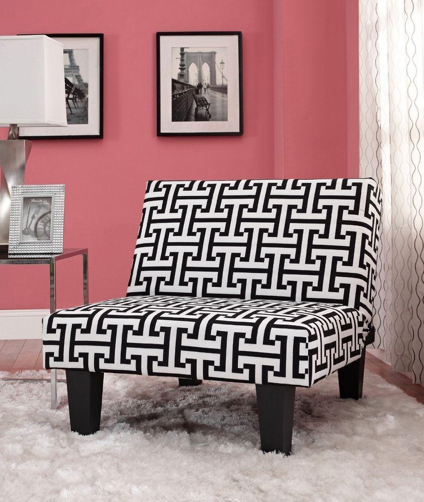 accent kebo chair multi position sleeper black white loveseat