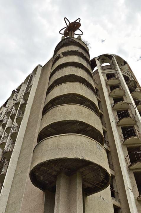 Abandoned hotel near Sukhumi, Republic of Abkhazia