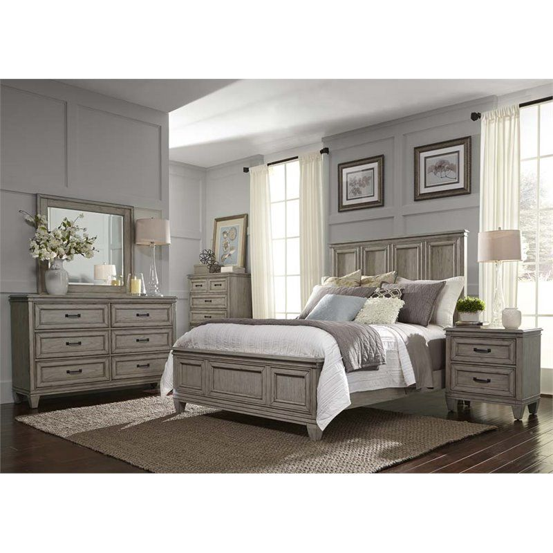 Liberty Furniture Grayton Grove 5 Piece King Panel Bedroom Set