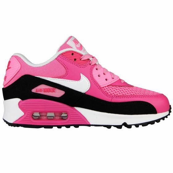 Girls Nike Air Max 90 LE GS Shoes Pink Black | Nike air max