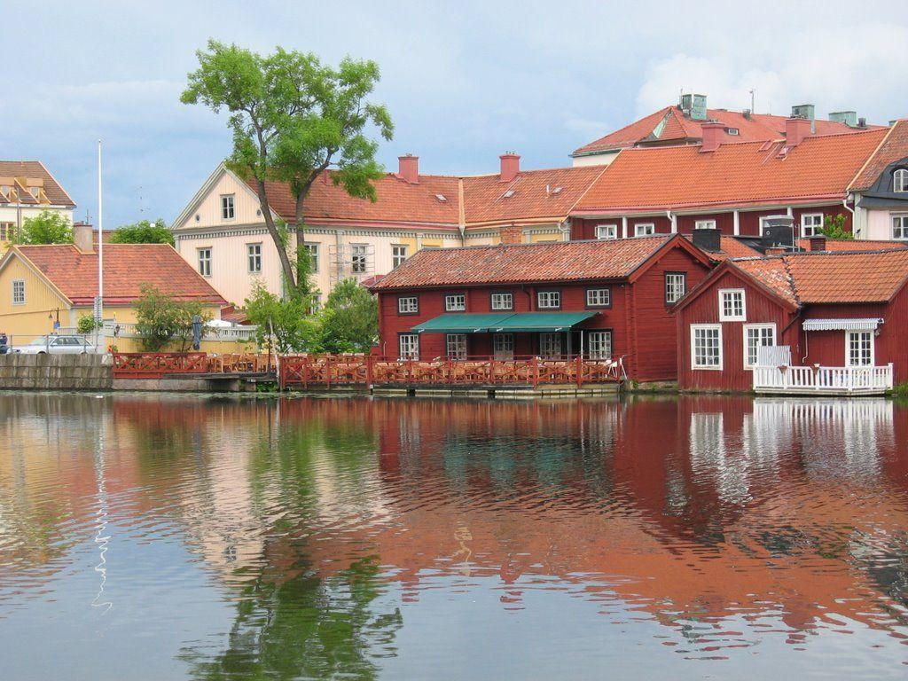 Down the river, in Eskilstuna town, Sweden