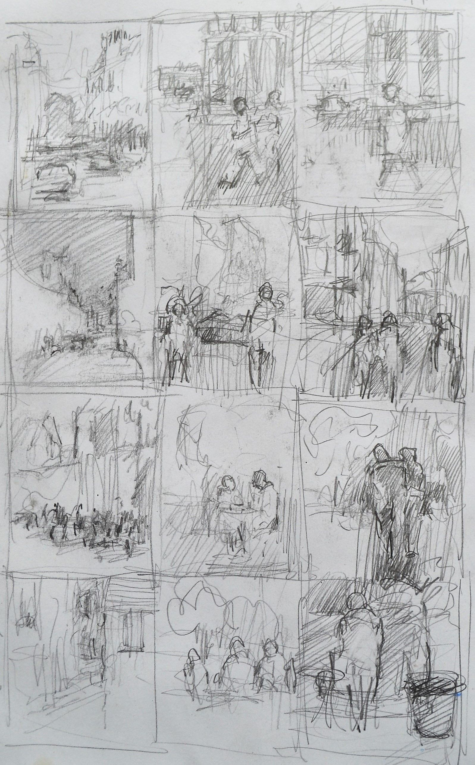 Colin Merrin Thumbnail Sketches Pencil