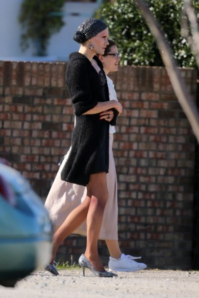 Jared Leto and Jennifer Garner on the set of 'The Dallas Buyers Club' in New Orleans.